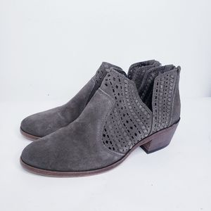 Vince Camuto suede cutout booties with low heel